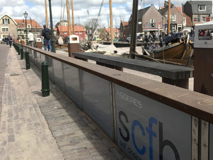 Project MCM Hyflo self closing flood barrier in Spakenburg