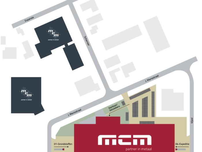 Plattegrond nieuwe locatie MCM