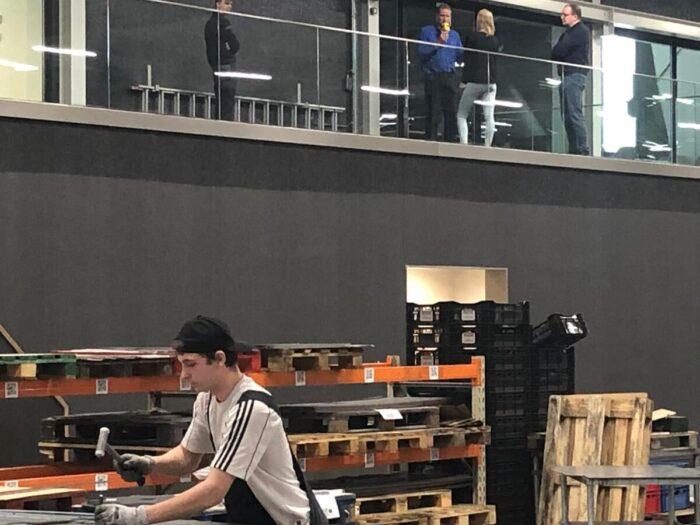 Opnames Techniektour BNR Nieuwsradio Vakcollege Noordoostpolder en MCM